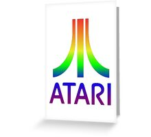 Atari Big Rainbow Logo Greeting Card