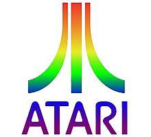 Atari Big Rainbow Logo Photographic Print