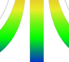 Atari Big Rainbow Logo Sticker