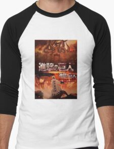 Shingeki No Kyubi SNK Men's Baseball ¾ T-Shirt