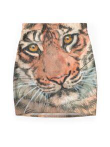 Tiger portrait 884 Mini Skirt