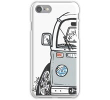 VW Camper Van Misty Grey Bay iPhone Case/Skin