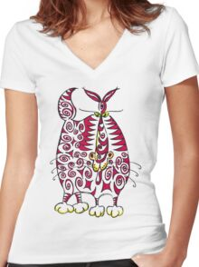 Another psychedeliCat Women's Fitted V-Neck T-Shirt
