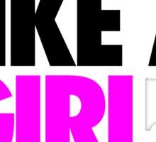 I PLAY LIKE A GIRL, I WIN. - Alternate Sticker