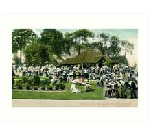 Victorian Café in Valley Gardens, Harrogate North Yorkshire Art Print