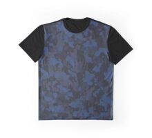 Blue Camo Graphic T-Shirt