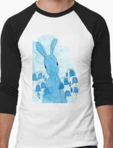 Peppermint Art Bluebell Bunny Men's Baseball ¾ T-Shirt