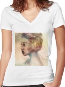 Galaxy Girl 2 Women's Fitted V-Neck T-Shirt
