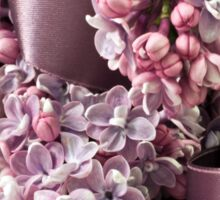 Lilac And Ribbon Curls Sticker