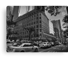 Manhattan - 5th Ave. 004 BW Canvas Print