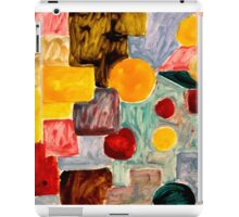 Abstract Oil painting shapes iPad Case/Skin