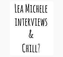 Lea Michele interviews and chill? Women's Fitted Scoop T-Shirt