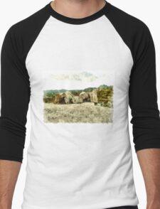 Arzachena: rock and landscape Men's Baseball ¾ T-Shirt