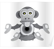 Temple Monkey Poster