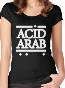 Acid Arab White Women's Fitted Scoop T-Shirt