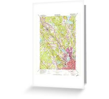 USGS TOPO Map Rhode Island RI Pawtucket 353334 1949 24000 Greeting Card