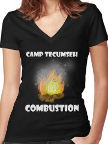 Combustion-Camp T Collection Women's Fitted V-Neck T-Shirt