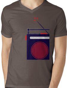 Funky Little Radio Mens V-Neck T-Shirt
