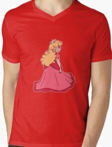 Princess Peach Wink Mens V-Neck T-Shirt
