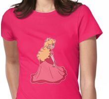 Princess Peach Wink Womens Fitted T-Shirt