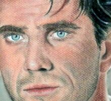 """hand drawing with pastels """"Mel Gibson"""" Sticker"""