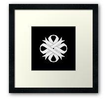 White Clover Ribbon Framed Print