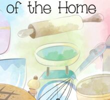 Watercolor Painting Kitchen Heart of the Home Sticker