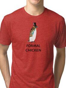 Psychedelic Formal Chicken Penguin Tri-blend T-Shirt