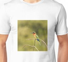 Red-throated Bee-eater with green background Unisex T-Shirt