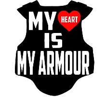 Twenty One Pilots Quote - My Heart Is My Armour Photographic Print