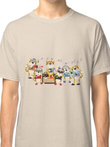 Cartoon Animals Tigers Rock Band Musical Classic T-Shirt