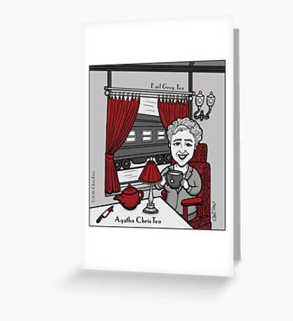 Agatha ChrisTea Greeting Card