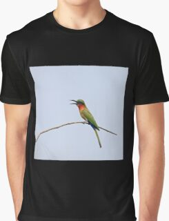Red-throated Bee-eater with bill open Graphic T-Shirt
