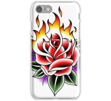 Traditional Fire Rose iPhone Case/Skin