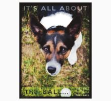 Terrier Obsession: It's All About The Ball One Piece - Short Sleeve