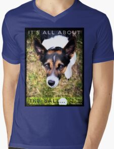 Terrier Obsession: It's All About The Ball Mens V-Neck T-Shirt