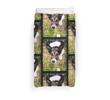 Terrier Obsession: It's All About The Ball Duvet Cover