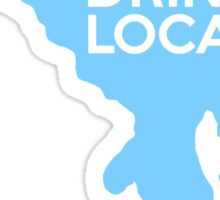 Maryland Drink Local MD Blue Sticker