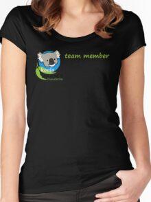 Koala Clancy Foundation Team Member small logo green Women's Fitted Scoop T-Shirt