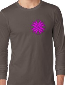 Purple Clover Ribbon Long Sleeve T-Shirt