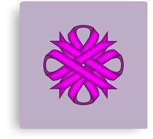Purple Clover Ribbon Canvas Print