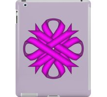 Purple Clover Ribbon iPad Case/Skin
