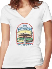 Big Kahuna Burger Women's Fitted V-Neck T-Shirt