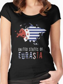 Map of Eurasia (The United States of) Women's Fitted Scoop T-Shirt