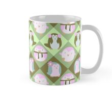 Green Pastel Penguin Pattern Mug