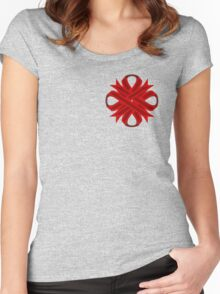 Burgundy Clover Ribbon Women's Fitted Scoop T-Shirt