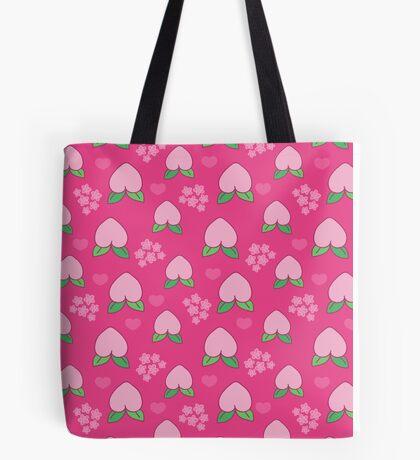 Peach Fruit Pattern Tote Bag