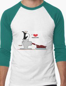 i love penguins Men's Baseball ¾ T-Shirt