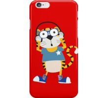 Cartoon Animals Tiger Rocking to the Music iPhone Case/Skin