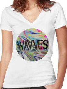 wavves Women's Fitted V-Neck T-Shirt